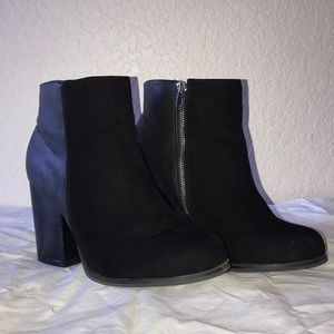 Torrid faux leather and suede booties